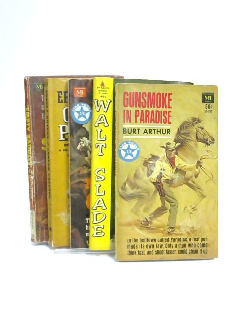 Set of 5 Cowboy & Western Novels Vintage Paperbacks by Various