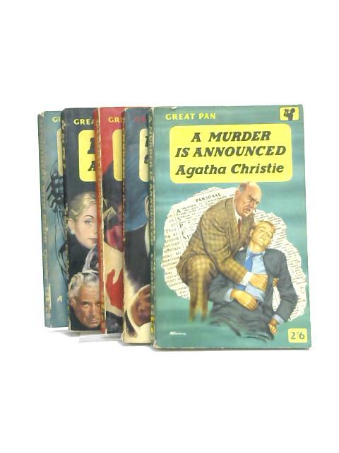 Set of 5 Agatha Christie Novels Vintage Papaerbacks by Agatha Christie