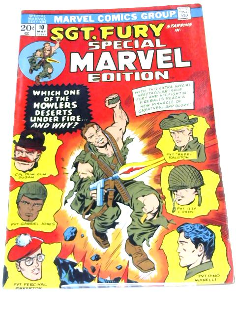 Sgt. Fury. Special Marvel Edition Issue# 10 By Anon