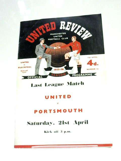 Manchester United V. Portsmouth 1956 Football Programme by Anon