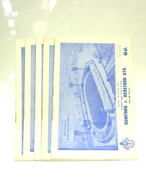 Set of 5 Romford Town Football Programmes 1967-68 By Anon