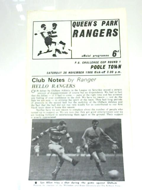 Queen's Park Rangers v. Poole Town FA Cup 1966 by Anon