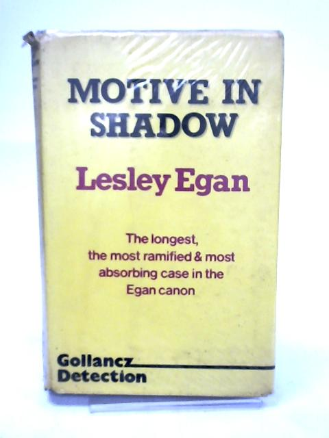 Motive in Shadow by Egan