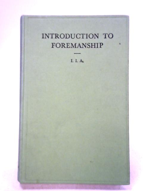Introduction to Foremanship by H. McFarland Davis