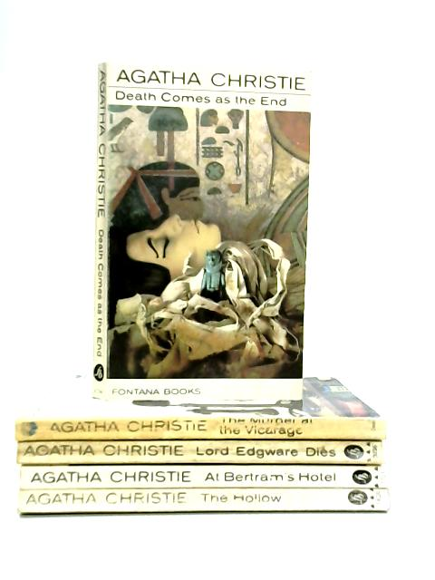 Set of Five Agatha Christie Mystery Novels by Agatha Christie
