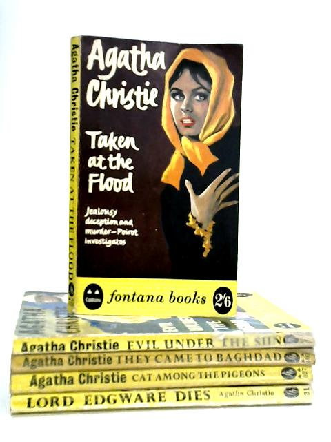 Set of Five Agatha Christie Mystery Novels by Agatha Christie