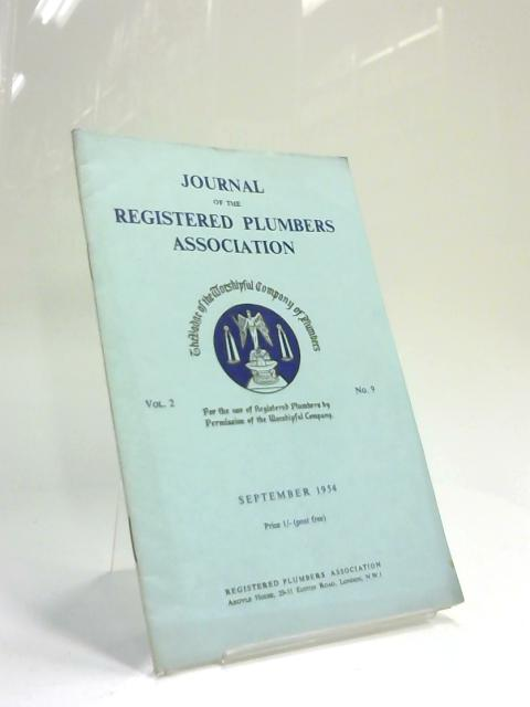 Journal of the Registered Plumbers Association September 1954 by Anon