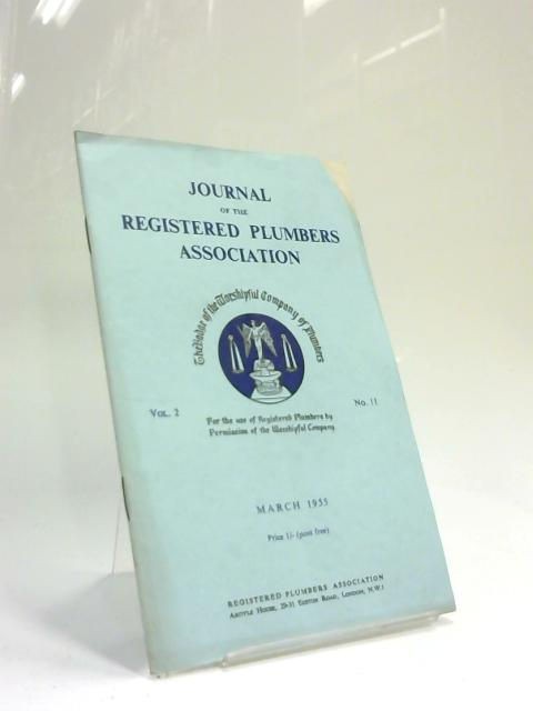 Journal of the Registered Plumbers Association March 1955 by Anon