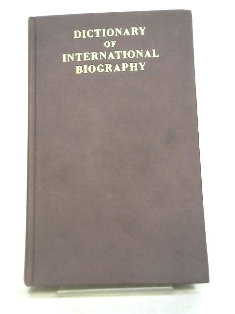 Dictionary of International Biography by Geoffrey Handley - Taylor