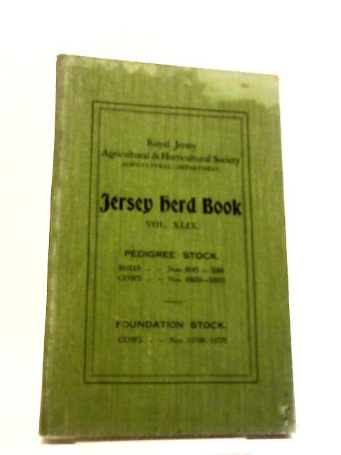 Jersey Herd Book Volume XLIX by Anon