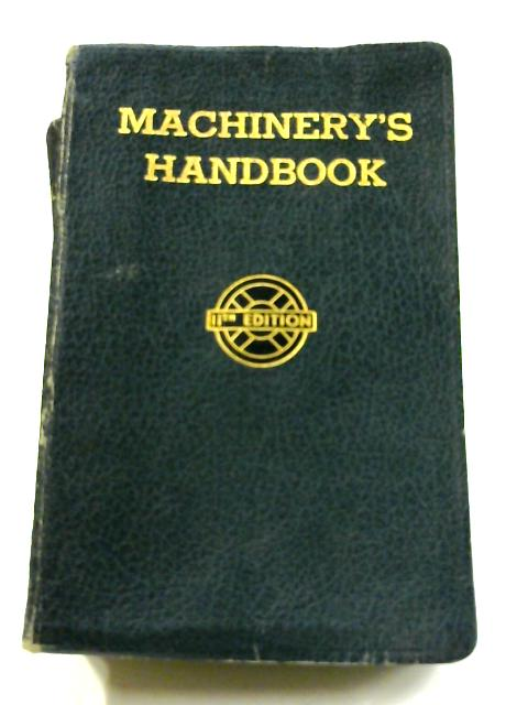 Machinery's Handbook by Erik Oberg (edit)