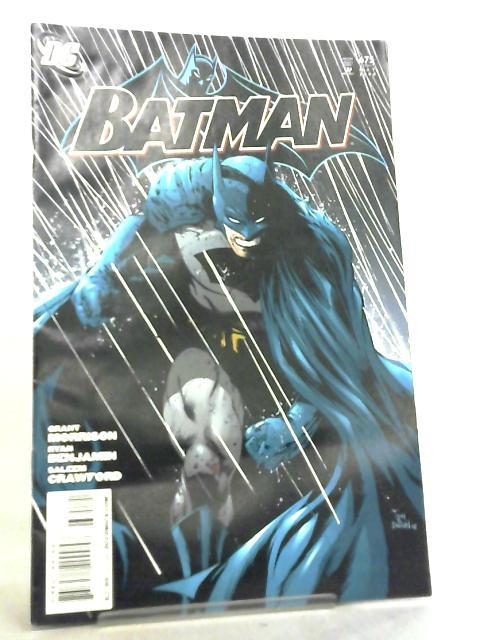 Batman No 675 May 2008 By Grant Morrison et al