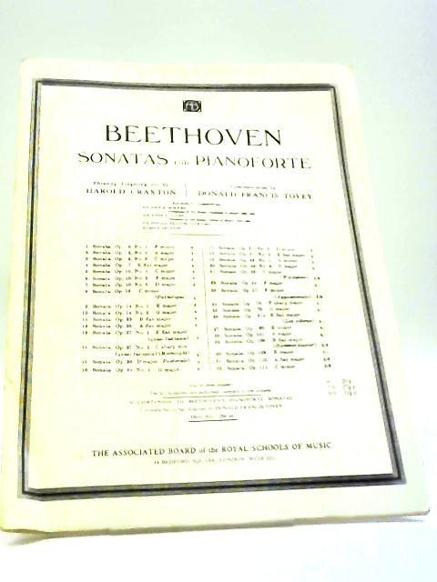 Beethoven Sonatas for Pianoforte, Sonata in C Sharp Minor, Op. 27, No.2 by Harold Craxton, Donald Francis Tovey