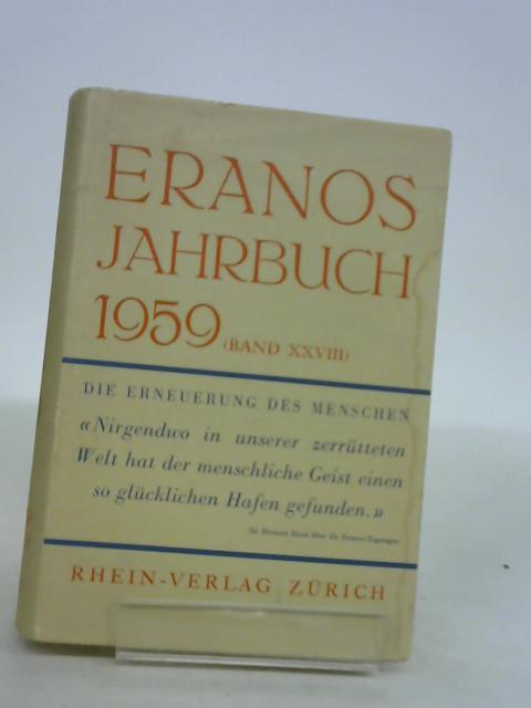 Eranos-Jahrbuch 1959. Band XXVII by unknown