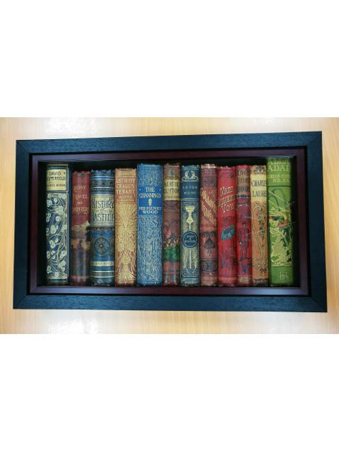 Framed Vintage Book Spines by Various