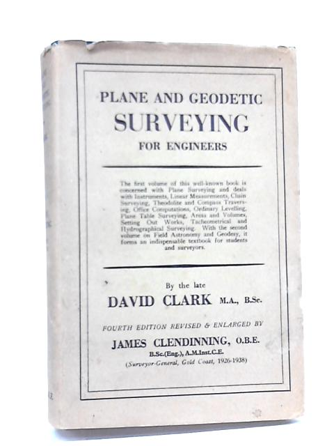 Plane and geodetic survey by David clark`
