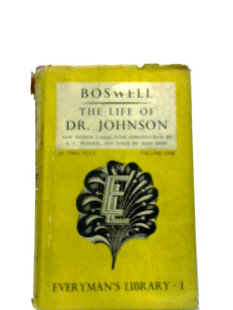 The Life Of Samual Johnson Vol.I by Boswell