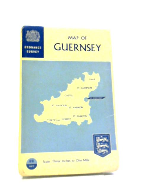 Map of Guernsey: 3 Inches to 1 Mile by Not Stated