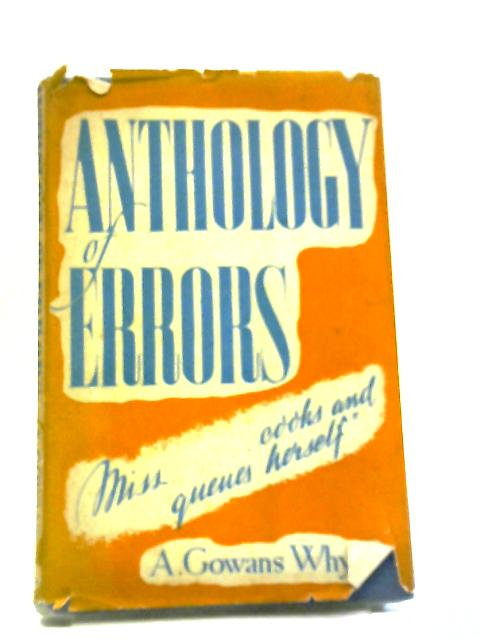 Anthology of Errors by Adam Gowans Whyte