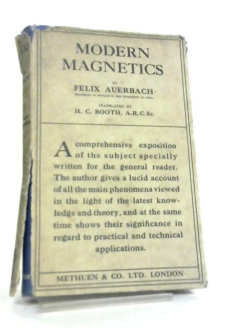 Modern Magnetics by Felix Auerbach