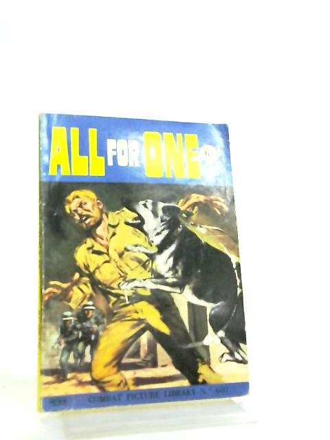 Combat Picture Library No 607 All for One By Anon