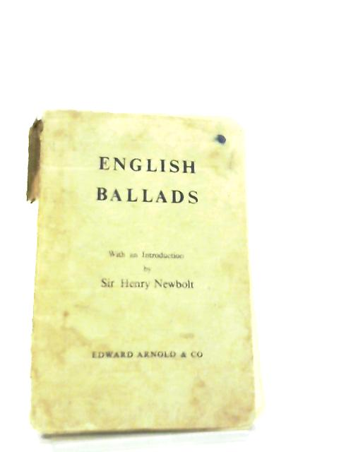 English Ballads and Short Narrative Poems by Henry Newbolt