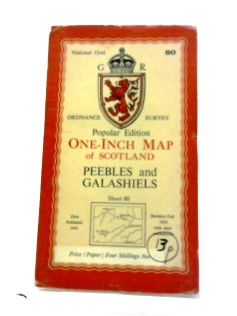 Ordnance Survey Popular Edition One-Inch Map of Scotland Peebles and Galashiels Sheet 80 by Ordnance Survey: