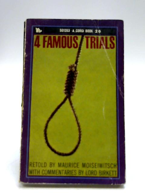 Four Famous Trials (Corgi Books. no. SG1353.) by Maurice Moiseiwitsch