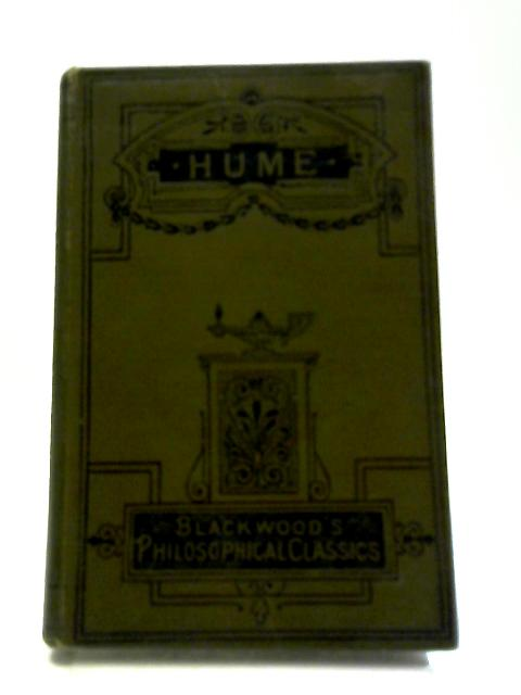 Hume (Blackwood's Philosophical Classics) by William Angus Knight