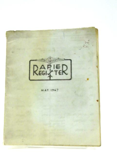 Rapier Register May 1967 By Unknown