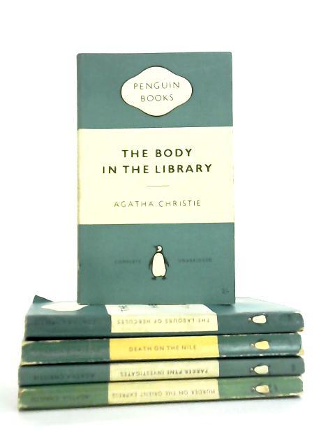 Set of 5 Agatha Christie Mystery Novels by Agatha Christie