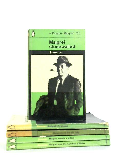 Set of 5 Simenon 'Maigret' Mystery Novels by Georges Simenon