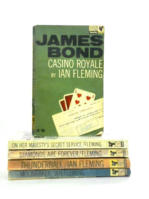 Set of 5 Ian Fleming James Bond Novels by Ian Fleming