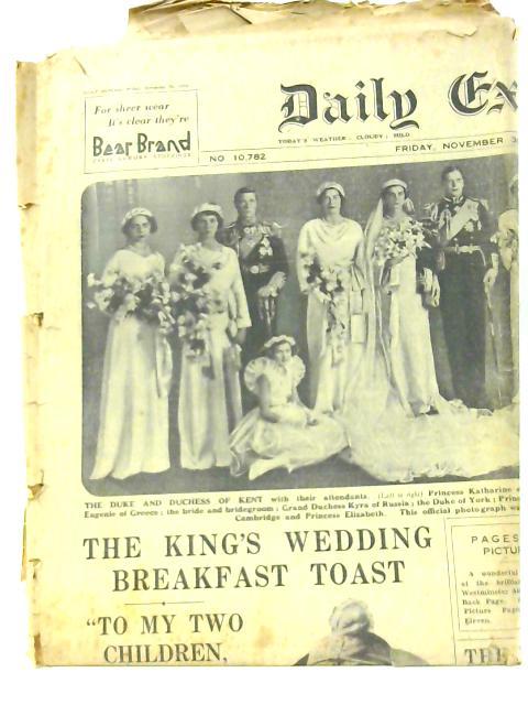 Daily Express 30th November 1934 By Various