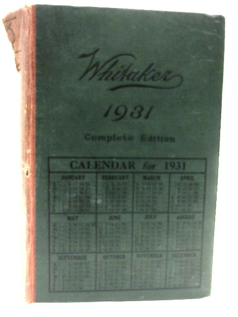 Whitakers Almanac 1931 By Various