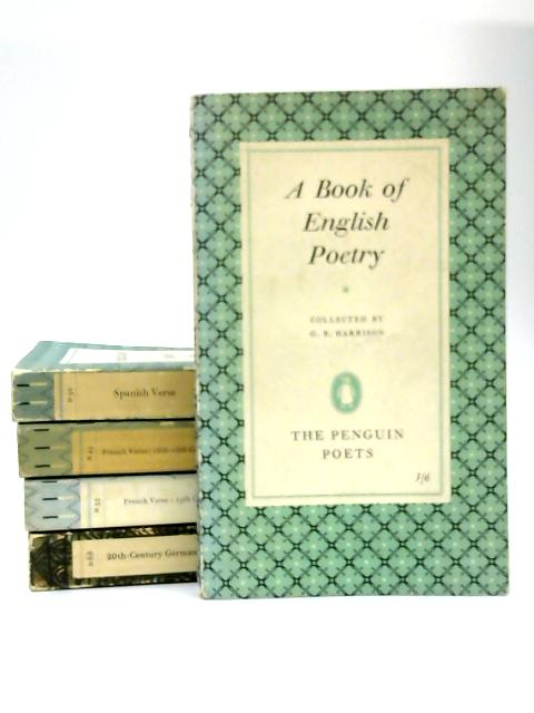 5 Poetry Penguin Paperbacks by Various