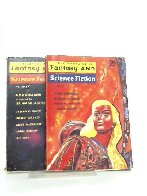 The Magazine of Fantasy and Science Fiction May & Aug 1961 By Various