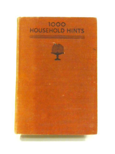 1000 Household Hints by Elizabeth Craig