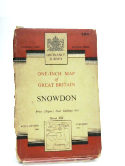One-Inch Map of Great Britain, Seventh Series Sheet 107 Snowdon By Anon