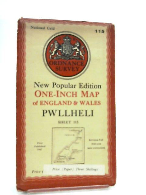 One-Inch Map Of England & Wales Sheet 115 Pwllheli by Anon