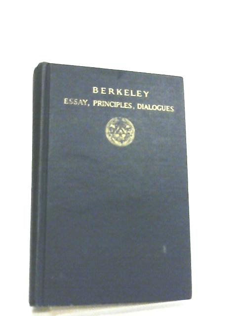 Berkeley, Essay, Principles, Dialogues By Mary Whiton Calkins