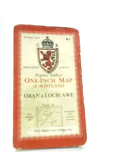 One-inch Map of Scotland, Sheet 61 Oban & Loch Awe by Anon