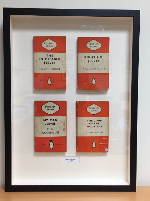 Framed Vintage Penguin Books- Four Jeeves Books by P G Wodehouse
