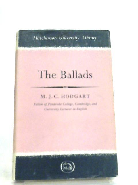 The Ballads By M. J. C. Hodgart