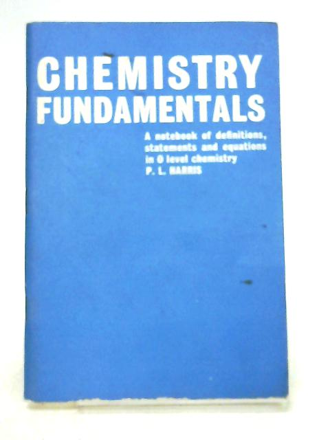 Chemistry Fundamentals by Harris