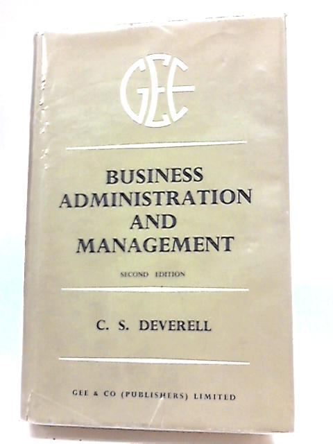 Business Administration and Management by Deverell