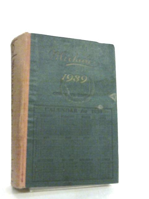 Whitaker's Almanack 1939 by J. Whitaker