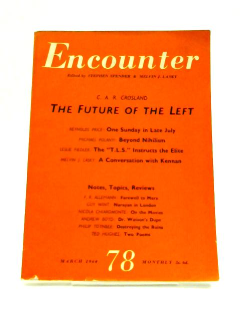 Encounter: March 1960 Vol. XIV No. 3 by S. Spender (Ed)