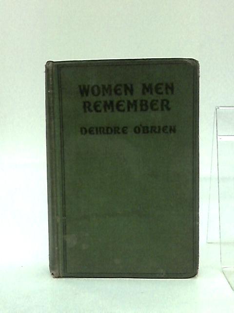 Women Men Remember by Diedre O'Brien