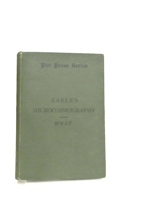 Earles Microcosmography By Alfred S. West